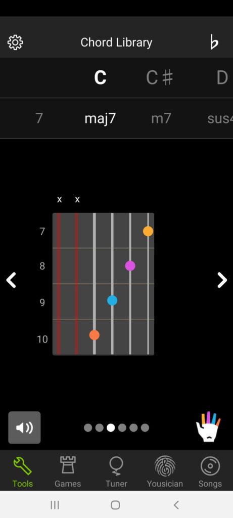 GuitarTuna Chord Library